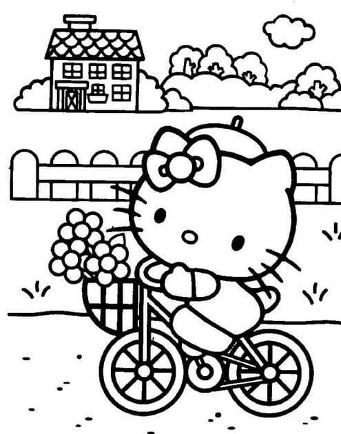 Tranh tô màu Hello Kitty 18