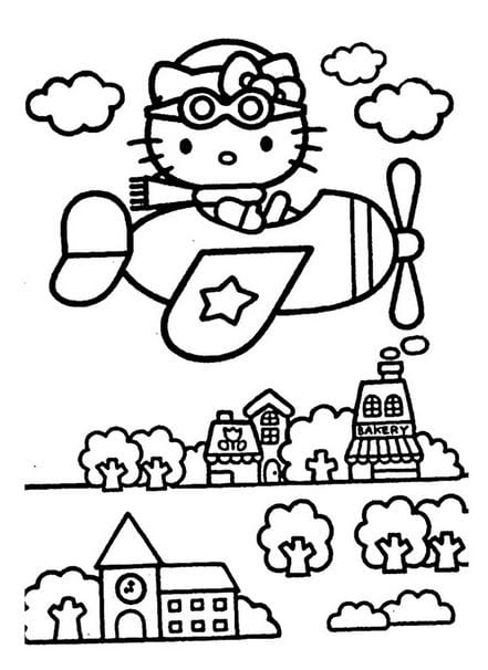 Tranh tô màu Hello Kitty 19