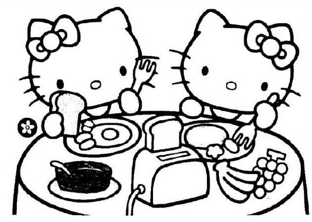 Tranh tô màu Hello Kitty 2