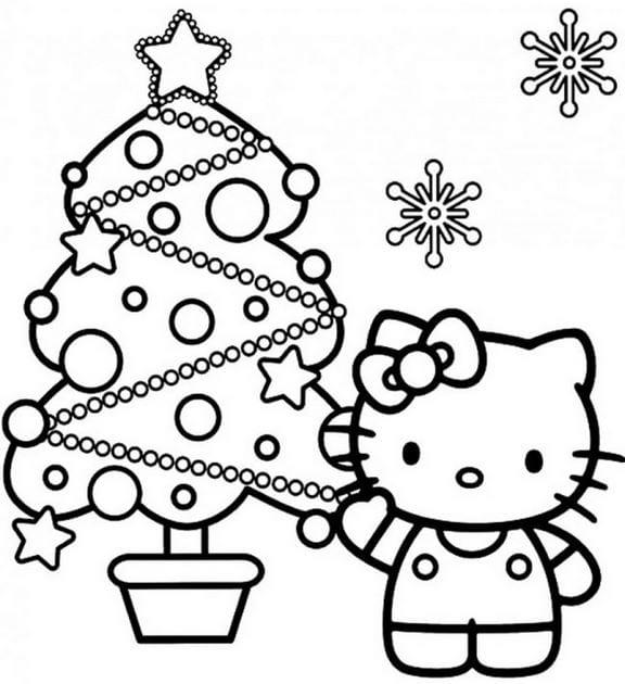 Tranh tô màu Hello Kitty 20