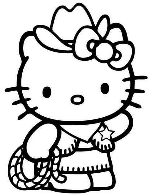 Tranh tô màu Hello Kitty 3