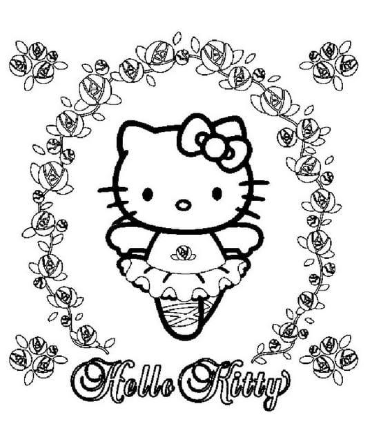 Tranh tô màu Hello Kitty 4