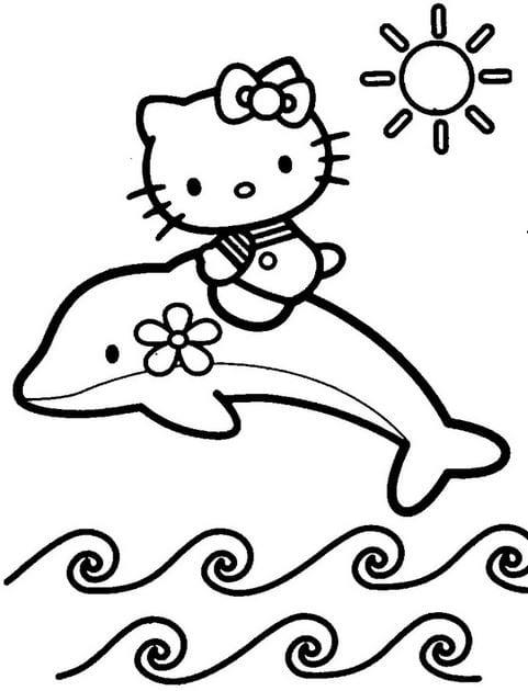 Tranh tô màu Hello Kitty 5