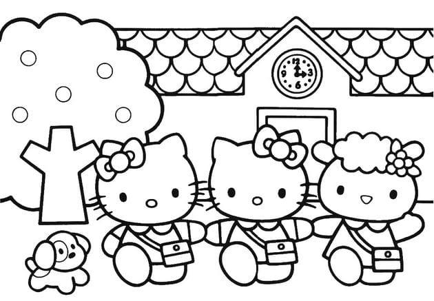 Tranh tô màu Hello Kitty 6