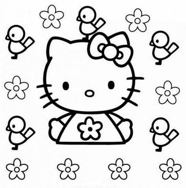 Tranh tô màu Hello Kitty 7