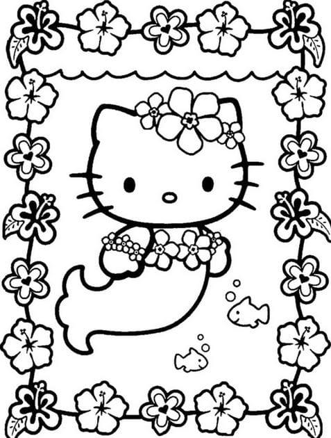 Tranh tô màu Hello Kitty 8