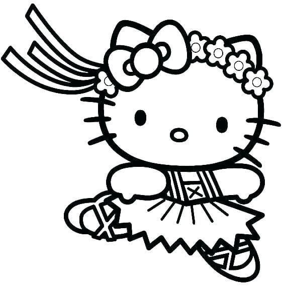 Tranh tô màu Hello Kitty 9