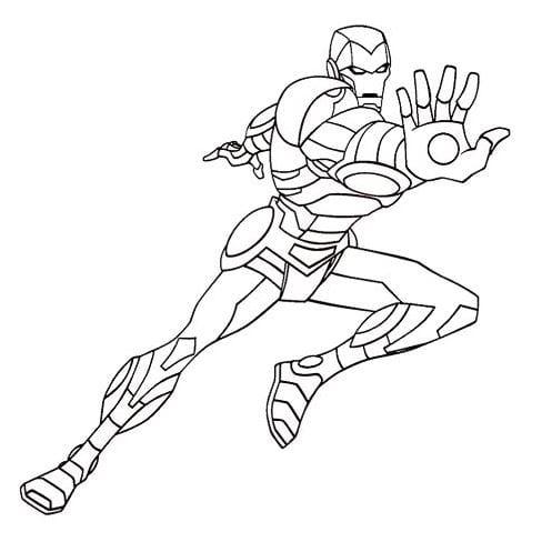 Tranh tô màu siêu nhân 12
