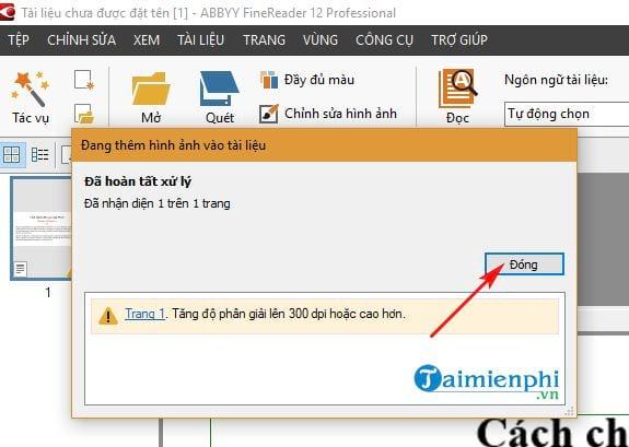 Cách chuyển file scan sang Word 7