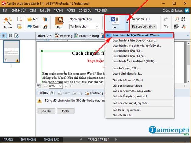 Cách chuyển file scan sang Word 8