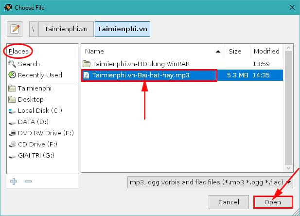 How to share mp3 files on Windows 10 9