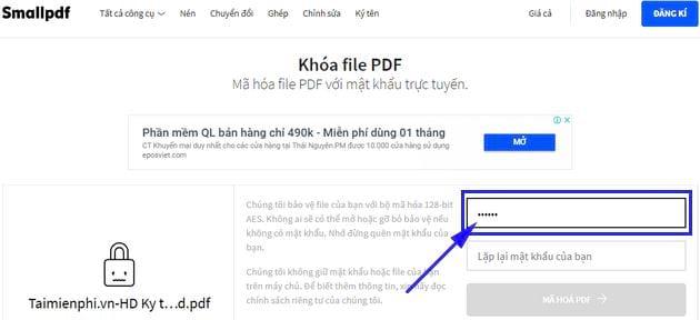 huong dan them mat khau pdf truc tuyen 5