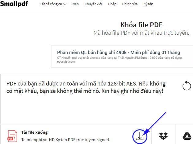 huong dan them mat khau pdf truc tuyen 8