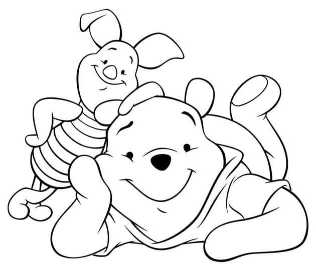 Tranh tô màu con vật cho bé tập tô 17