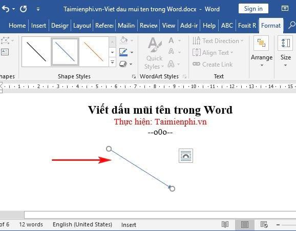 Cách viết dấu mũi tên trong Word 7
