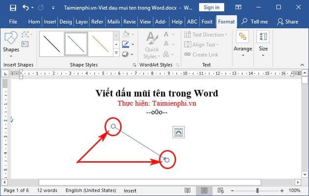 Cách viết dấu mũi tên trong Word 8