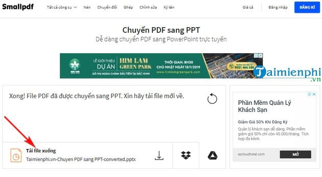 Direction of converting pdf to ppt in the most simple 6