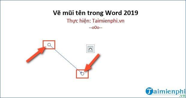 cach ve mui ten trong word 2019
