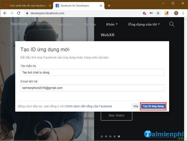 Tự tạo chatbot Facebook, trả lời tin nhắn tự động Messenger 2