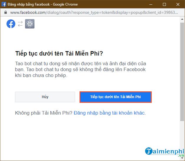 Tự tạo chatbot Facebook, trả lời tin nhắn tự động Messenger 6