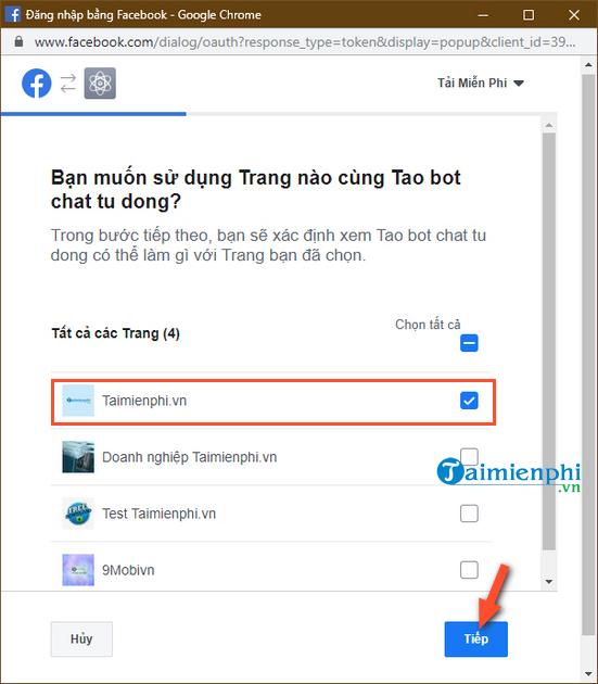 Tự tạo chatbot Facebook, trả lời tin nhắn tự động Messenger 7