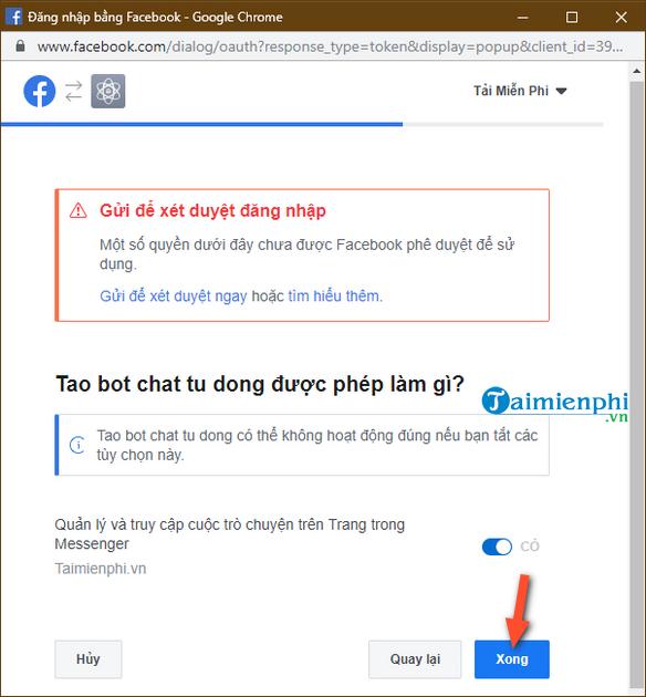 Tự tạo chatbot Facebook, trả lời tin nhắn tự động Messenger 8