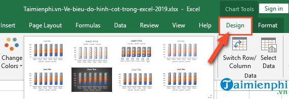 Cách vẽ biểu đồ hình cột trong Excel 2019, 2016, 2013, 2010, 2007, 2003 6