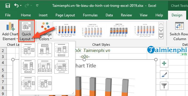 Cách vẽ biểu đồ hình cột trong Excel 2019, 2016, 2013, 2010, 2007, 2003 7