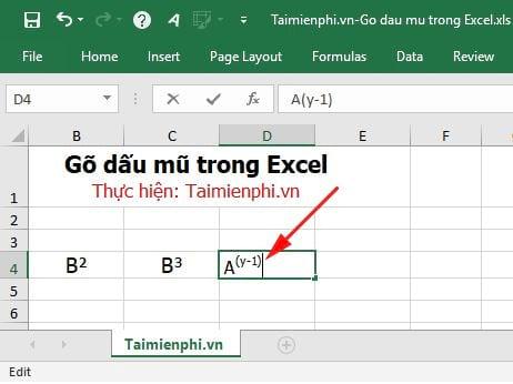 [TaiMienPhi.Vn] Cách gõ dấu mũ trong Excel 2019, 2016, 2013, 2007, 2010