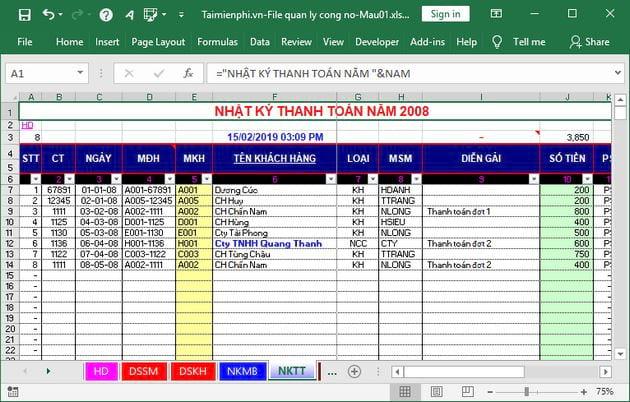 File Excel quản lý công nợ 4