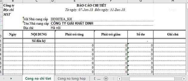 File Excel quản lý công nợ 6