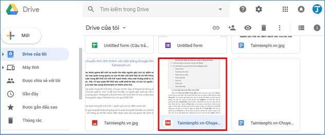 cach chuyen pdf sang doc su dung google drive 3