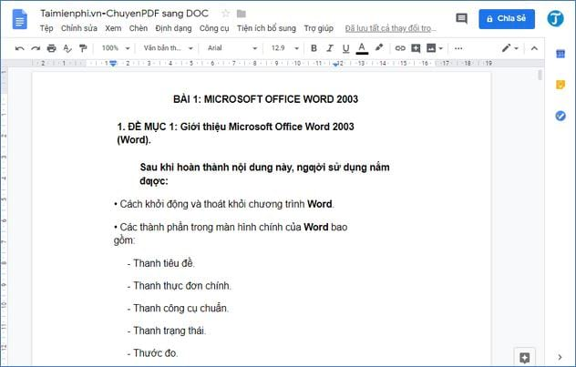 cach chuyen pdf sang doc su dung google drive 5