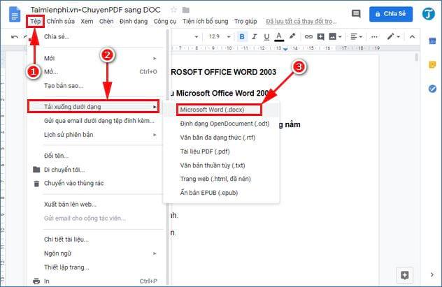 cach chuyen pdf sang doc su dung google drive 7