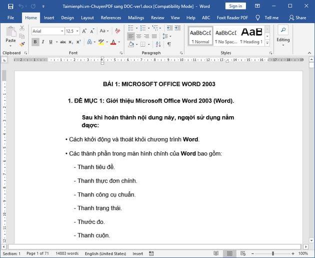 cach chuyen pdf sang doc su dung google drive 9