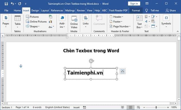 huong dan cach chen texbox trong word 4