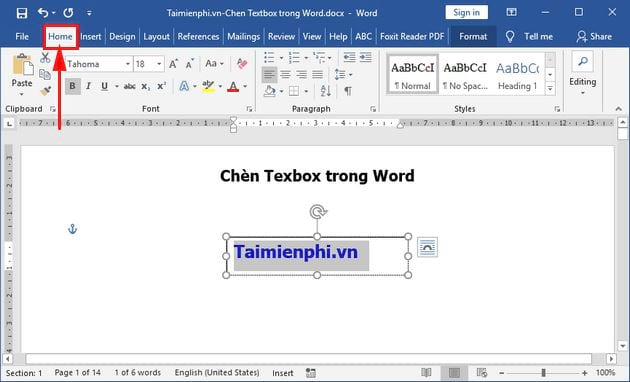 huong dan cach chen texbox trong word 7