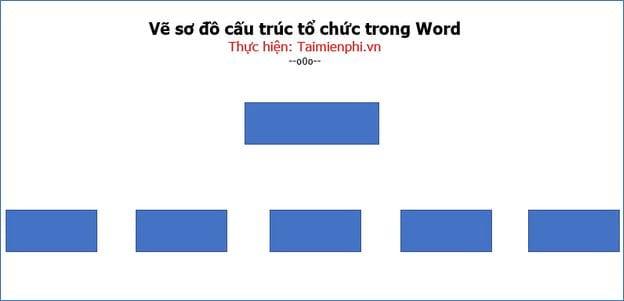 Vẽ sơ đồ cấu trúc tổ chức trong Word 4