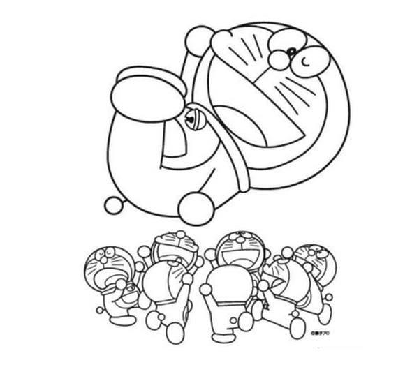 Hình tô màu Doremon cho bé tập tô 12