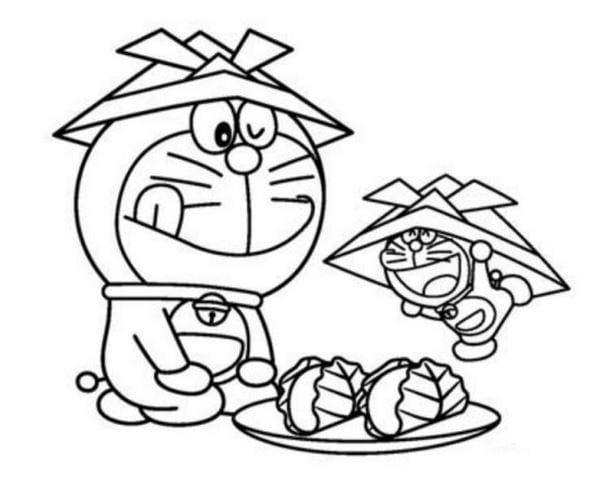 Hình tô màu Doremon cho bé tập tô 15