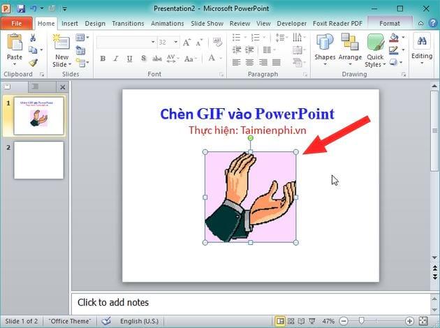 Cách chèn ảnh động GIF vào PowerPoint 3