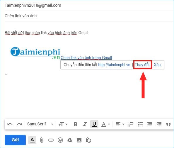 How to insert a link in gmail 11