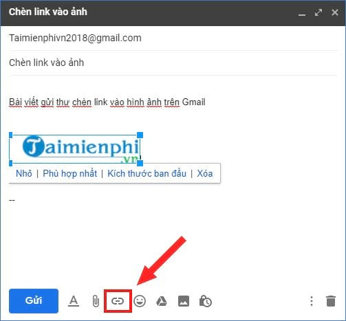 How to insert a link in gmail 9