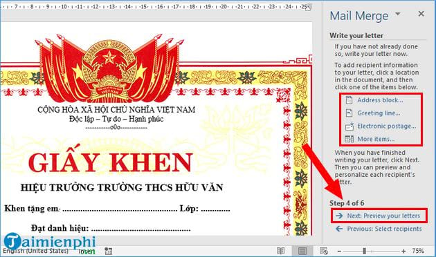 How to print the certificate of merit in the collection 13