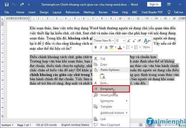 Chinh Khoang Cach Giua Cac Chu Trong Word Chuan Nhu The Nao 10