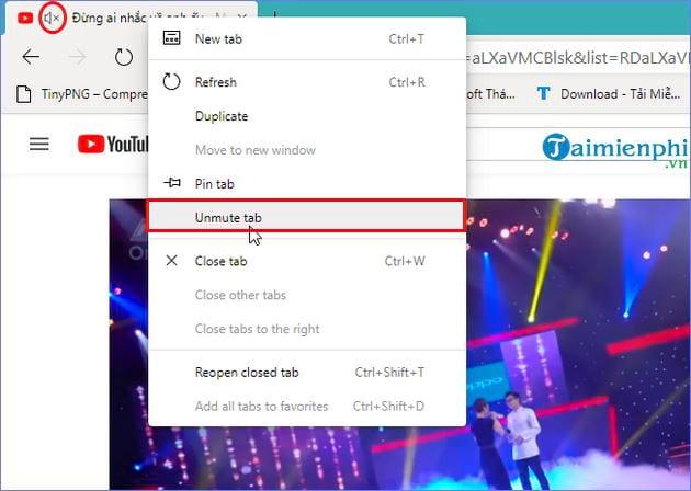 Mẹo tắt tiếng từng tab trên Microsoft Edge Chromium