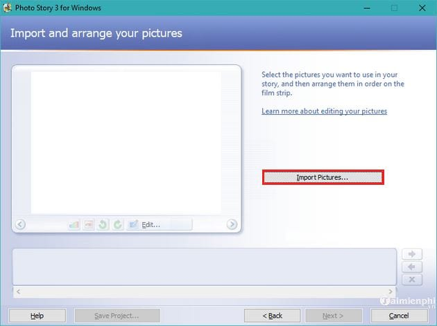 Huong using photo story 3 for windows 3