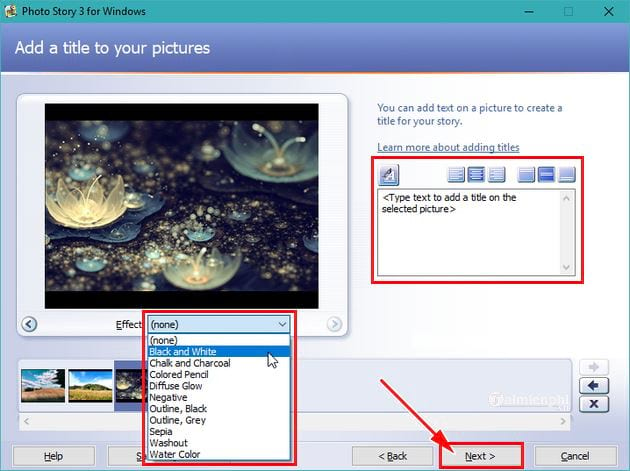 Huong using photo story 3 for windows 7