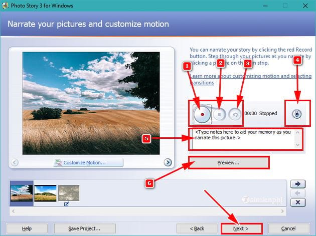 Huong using photo story 3 for windows 8