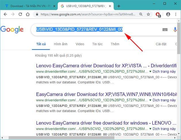 Hướng dẫn tìm driver Windows 10 bằng ID, seri phần cứng